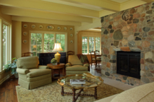Living Room with Fireplace White Bear Lake Interior Design