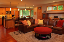 Living Room and Kitchen View Minnetonka Rambler Interior Design