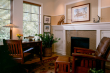 Office with Fireplace Stillwater MN Interior Design