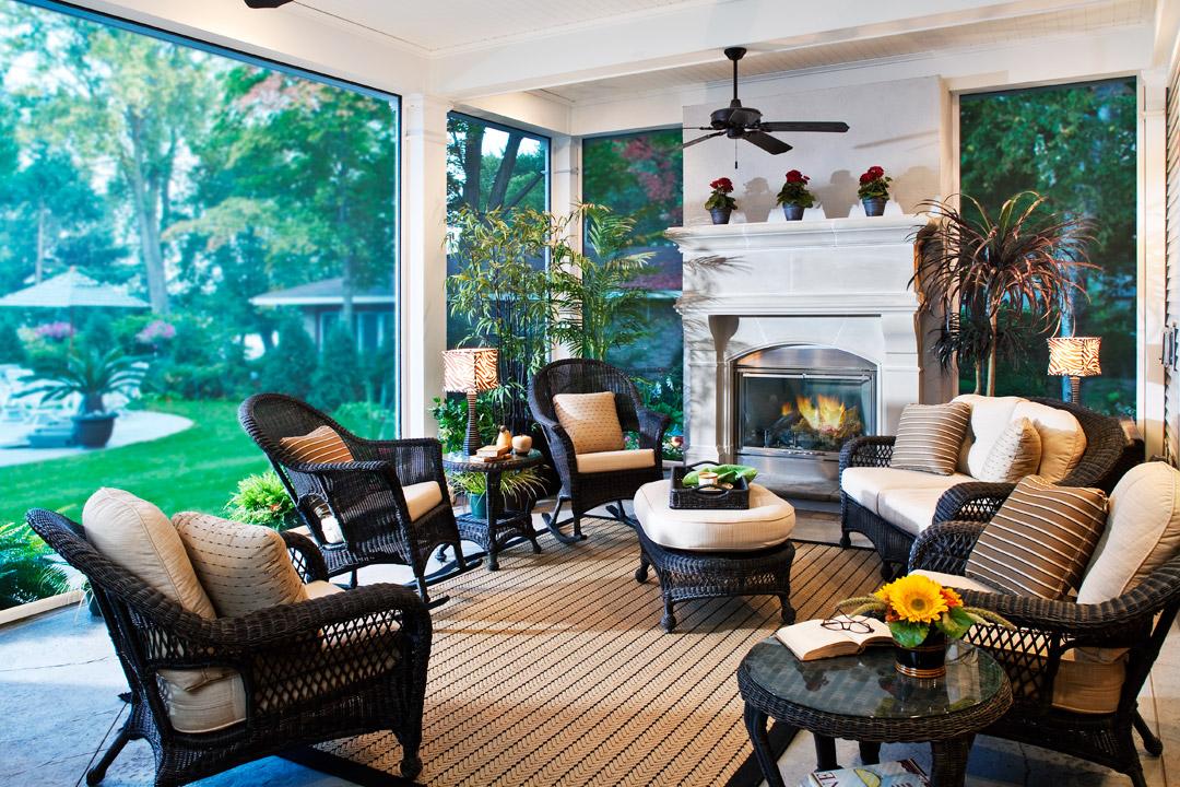 Porch Bald Eagle Lake Interior Design