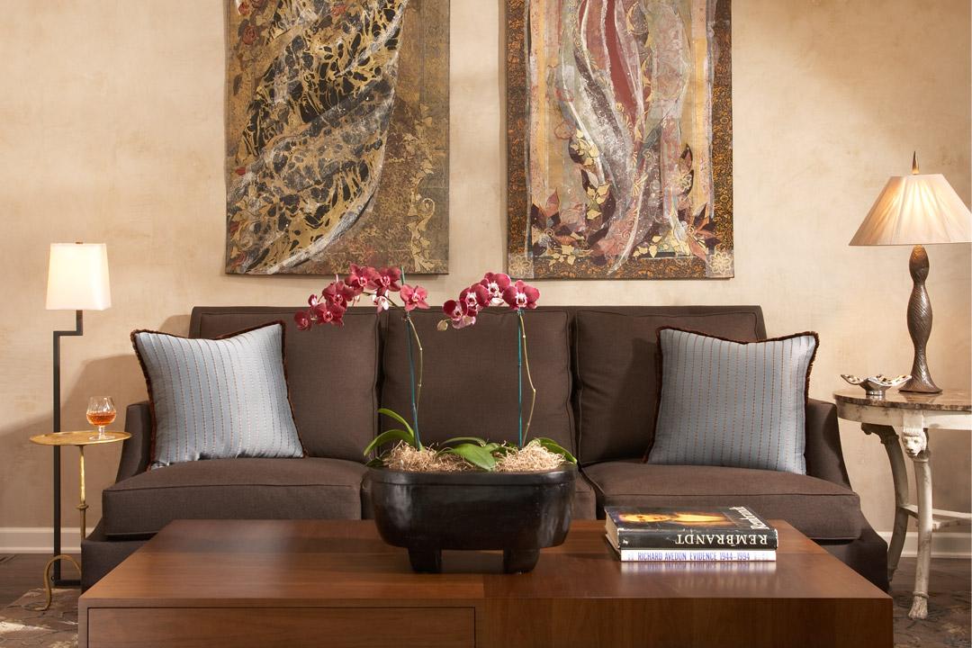 Sofa and Artwork Minneapolis, MN Interior Design
